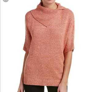 Cabi Foldover Pullover Short Sleeve Sweater Small